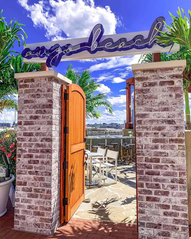 Ouzo Beach Entry Gate