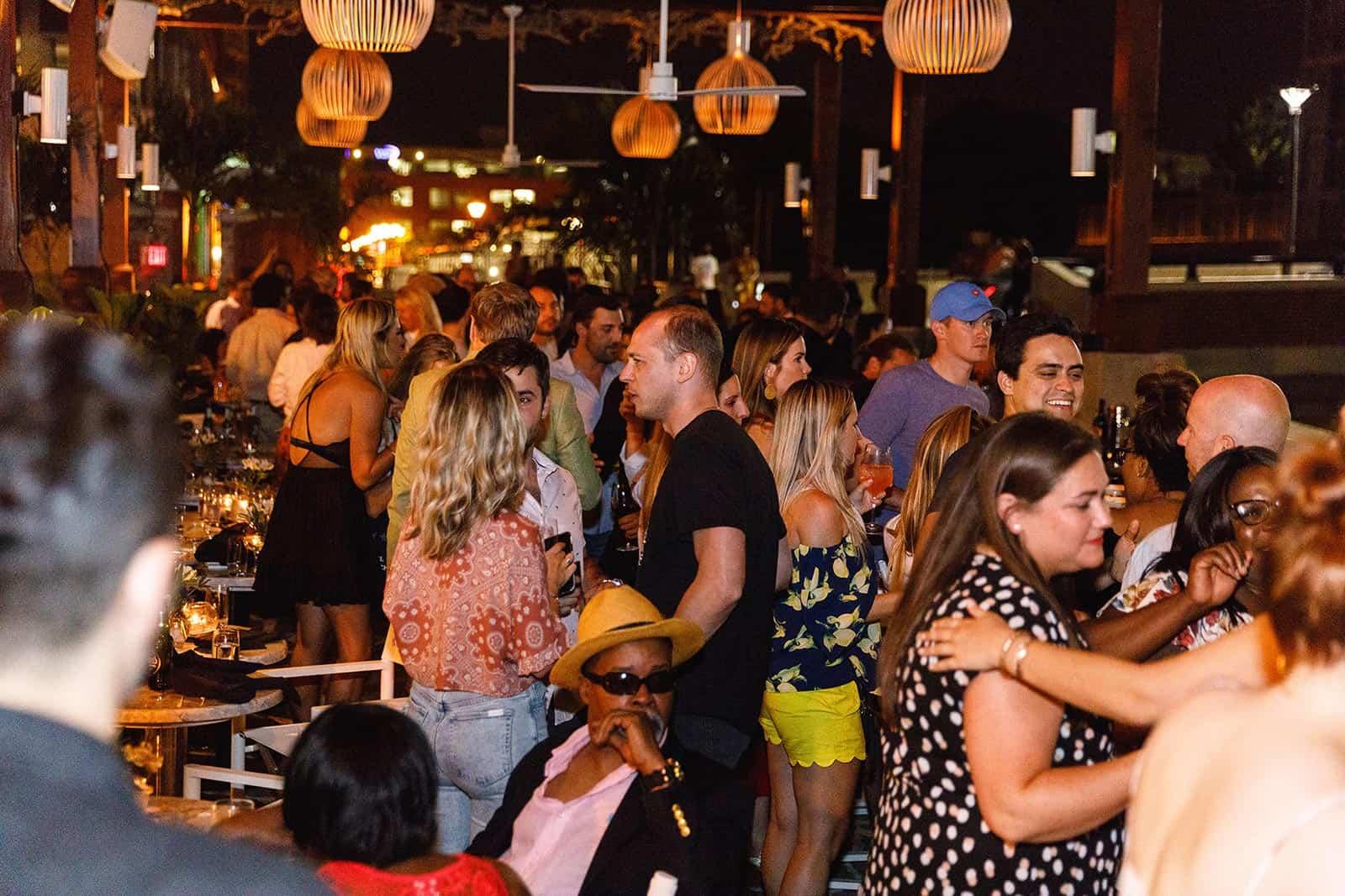 Ouzo Beach Nighttime Party
